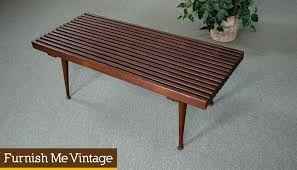 Slat Bench Coffee Table Small Vintage Slat Bench Coffee Table