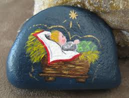 christmas rock rock painting and rock art