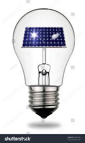 light bulb that symbolize power solar stock photo 66832528