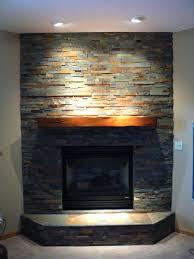 installing stacked stone fireplace surround tile around slate