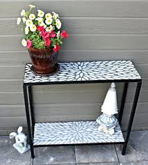 Patio Serving Table Patio Serving Table 2 Tier Concrete Console Buffet With Oval