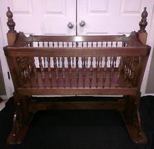 wooden baby cradle ebay