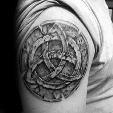 60 triquetra tattoo designs for men trinity knot ink ideas