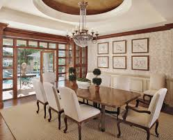 crystal chandeliers for dining room a niermann weeks iron u0026 crystal chandelier hangs in this lovely