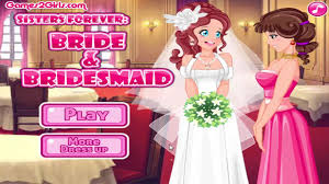 sisters forever bride and bridesmaid dress up games for girls