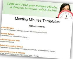 corpnet adds free meeting minutes and corporate document templates