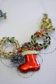 ugly christmas necklace diy thriftdee