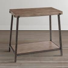 Chair Side Table Oak Brown Chairside Table
