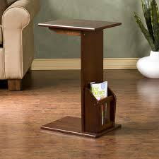 decorative tall wooden livingroom end tables with bookshelf base