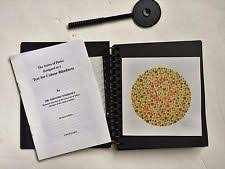Color Blindness Book Ishihara Test Ophthalmology U0026 Optometry Ebay