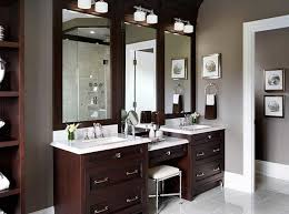 amazing bathroom vanity with makeup counter with double sink