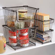 Kitchen Wrap Organizer by Amazon Com Interdesign York Lyra Kitchen Organizer Basket Large