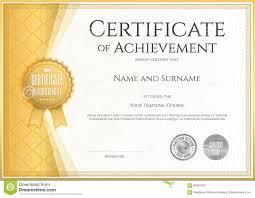certificate of achievement template in vector stock vector image