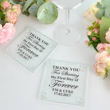 wedding coaster favors wedding glass coasters 1 colour print printed wedding coaster
