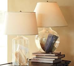 table lamp design clear with fillable glass table lamp base kits