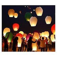 lantern kites 2 pcs sky lantern fly kites paper hot balloon parachute kandil