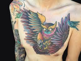rudy lopez good fortune tattoo tattoos stand alone owl chest