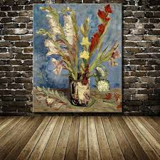 canvas painting for home decoration modern home decoration handpainted vincent van gogh flower oil