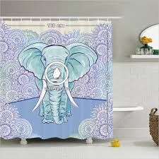 Elephant Bathroom Decor Shower Curtain Elephant Bathroom Accessories Animals Patterns