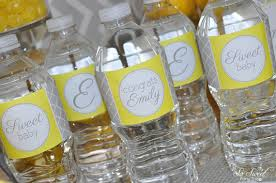 yellow and grey baby shower decorations 10 baby shower water bottle labels gray and yellow boy or girl