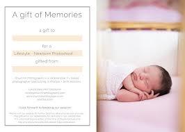 newborn session gift card churchin photography