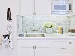 kitchen nice white polished marble tile backsplash nice