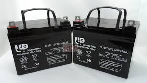 2 qty 12v 35ah wheelchair scooter batteries ub12350 new ebay