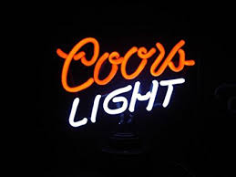 coors light sign amazon amazon com coors light neon sign everything else