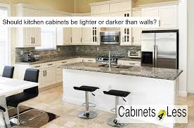 should kitchen cabinets be lighter than walls az cabinet company