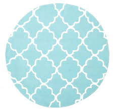 Buy Round Rug by Buy Kids Trellis Design Round Rug Soft Blue At Cheapest Rugs Online