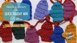 mini mitten garland free crochet pattern