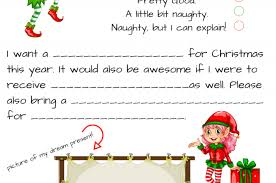 elf letter template free dear santa printable set