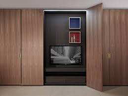 Hinged Wardrobe Doors Modular Wardrobe Contemporary Wooden Glass Battente