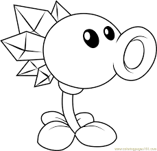 snow pea coloring page free plants vs zombies coloring pages