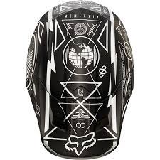 fox motocross kit all new fox racing 2015 v2 priori helmet black white matte finish