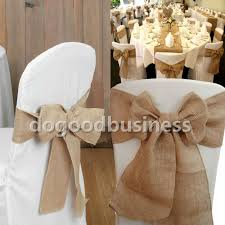 Vintage Wedding Chair Sashes Burlap Bows For Wedding Chairs Tbrb Info Tbrb Info
