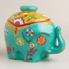 Ceramic Canisters For The Kitchen Royal Indian Elephant Ceramic Cookie Jar Elephant Cookies