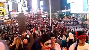 halloween 2014 na times square new york 5 dia youtube