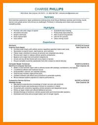 Unforgettable Customer Service Advisor Resume Examples To Stand by Automotive Mechanic Resume Example Sample Resume Mechanic Best Of
