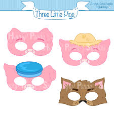 pigs printable masks pigs big bad