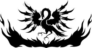 simple black phoenix tattoo design clip art library