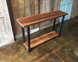 Reclaimed Wood Console Table Solid Wood Console Table Reclaimed Scaffold Plank Console