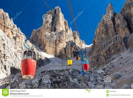 Dolomites Italy Map by Cable Car In Dolomites Italy Stock Photo Image 58456369