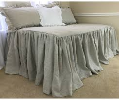 natural linen daybed cover handcrafted by superior custom linens