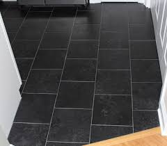 Kitchen Floor Tile Ideas by Black Floor Tiles Bathroom Aesthetic Grey Slate Flooring Decor