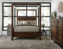Wood Canopy Bed Frame Kosas Solid Wood Canopy Bed Frame Zin Home