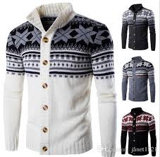 mens cardigan sweater autumn mens cardigan sweaters stand collar personalize flowers