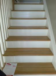 beautiful refurbish staircase oak stairs with white risers home