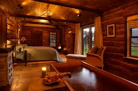 log cabin decorating ideas with sofa and carpet also wooden table