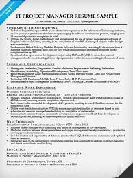 It Program Manager Resume Thesis Proposal Presentation Examples Higher English Personal